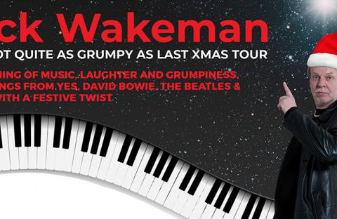 Rick Wakeman in a Christmas Hat