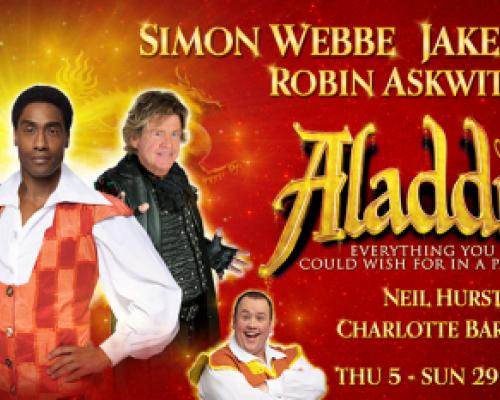 Simon Webbe, Jake Canuso and Robin Askwith fly into Hull New Theatre in Aladdin.
